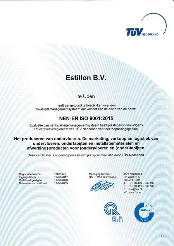 Certificaat-NEN-ES-ISO-9001-2015-nl