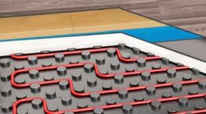 Unterlagen für Fußbodenheizung geeignet