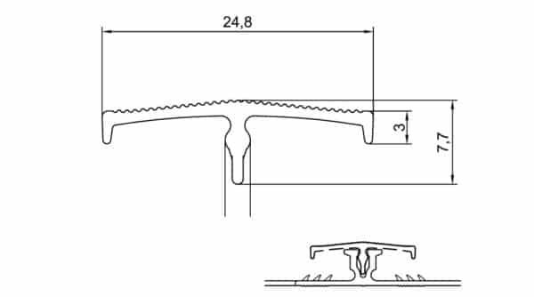 R3706-07-15-16-17-Alu-dubbelstrip-met-kap-7,7-mm