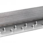 R3715(S)-Alu-dubbelstrip-met-kap-7,7-mm-geborsteld-nikkel