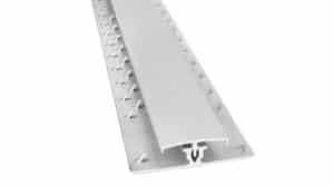 R3707-Alu-dubbelstrip-met-kap-7,7-mm-mat-zilver