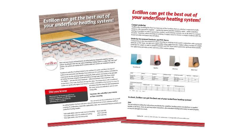 Underlays for floorheating